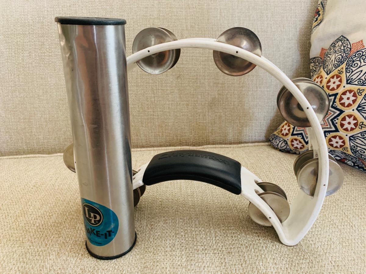 Photo 2 of Tambourine and LP shaker