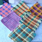 Large High Quality Folk Art Hand Loomed Potholders