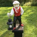 Antique cast iron lawn jockey
