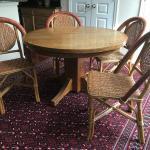 "Oak Table, Quarter Sawn, 45"" diameter"