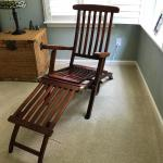 Vintage Steamer Ship Lounge Chair