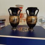Spyropoulos Black and Gold Vases