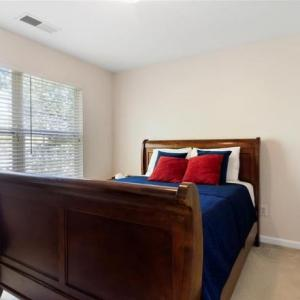 Photo of Solid wood queen size bed