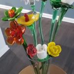 Hand blown glass flowers