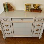 Gray and Gold Dresser/Buffet