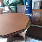 Ethan Allen Pedestal Octagonal Table with four chairs