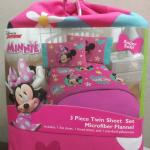 Minnie 3piece Twin Sheet Set