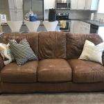 Leather Couch, Loveseat, Arm Chair