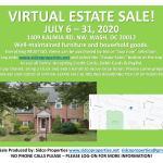 Virtual Estate Sale - July 7th thru July 31st!