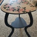 HAND-PAINTED HEART SHAPED SIDE TABLE