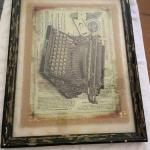 "Antique looking pic -- LARGE  22"" x 28"" (1 1/4"" Black Wood Thick Frame)"
