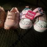 2 Pairs Baby Girl Sneakers Size 6 Never Worn