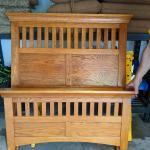 Twin Size Oak Shaker Style Bed