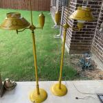 PAIR of Toleware Floor lamps Mustard Color