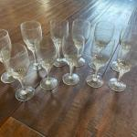 Crystal Port Glasses - set of 11