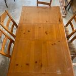 Kitchen table and set of 6 chairs