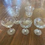 Lovely Dessert/Wine Glass Set