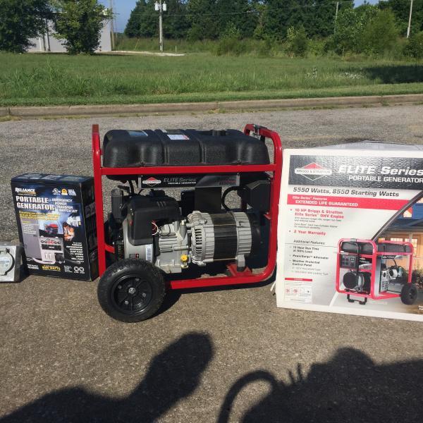 Photo of Briggs Stratton Elite Series5,500  watt Generator & Accessories
