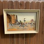 Vintage 1957 Jim McQuade Indian Painting Signed