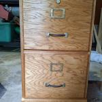 Oak Two Drawer File Cabinet