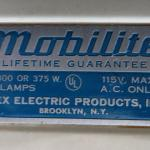 Vintage MOBILITE 4-Bulb Light Bar for Photography ~ Includes Case ~ ca 1940s