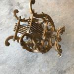 Antique Metal Gold Magazine Stand