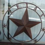 "HUGE 40"" Metal Texas Star"