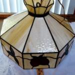 Tiffany Style Leaded slag glass shade.