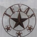 "New 20"" Metal Texas Star"