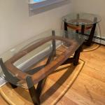 Glass top occasional tables