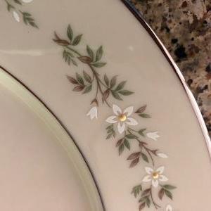 "Photo of Lenox ""Brookdale"" China salad plates."