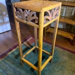"Bamboo Plant Stand 35.5"" T and 13"" Square"