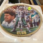 Collectible Mark Mcquire plates and Miami Dolphin plate