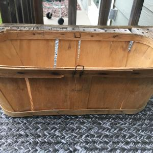 Photo of Rustic wooden fruit basket