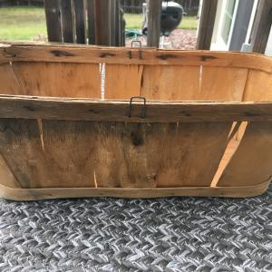 Photo of Rustic wood fruit basket