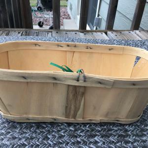 Photo of Wooden fruit basket