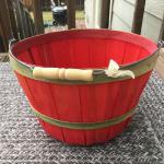 Rustic wood fruit basket