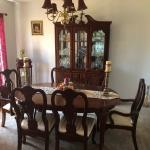 Eight piece dining room set