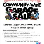 Clifton Springs Community-Wide Garage Sale