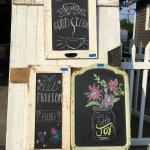 Chalkboards to use in your kitchen or entryway  for your own seasonal message!!
