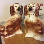 2 Antique Dogs