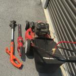 Lawn mower, edger, hedge trimmer, plus more