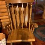 Wonderful solid oak rocking chair