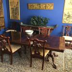 Ethan Allan Chippendale Dining Table & 6 Chairs,  Extensions & Pads