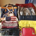 9 DESIGNER PURSES 1 PRICE
