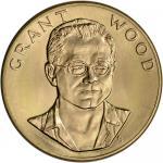 1980 US Gold (1 oz) American Commemorative Arts Medal - Grant Wood