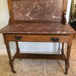 Small antique marble buffet