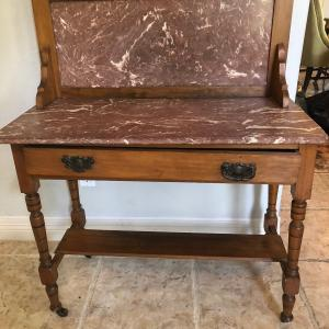 Photo of Small antique marble buffet