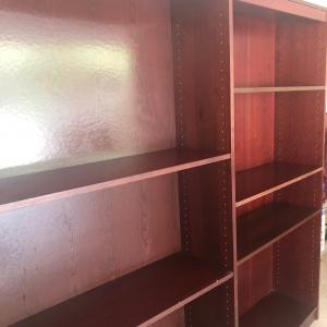 Photo of Two cherry  bookcases
