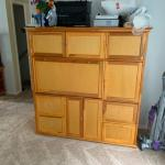 Secretary unit with file drawers